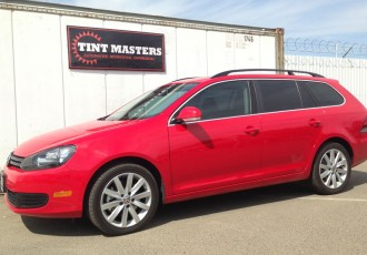 Red Jetta Wagon Tinted